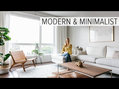 APARTMENT TOUR | my modern & minimalist living room tour - YouTu
