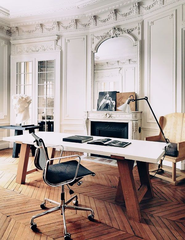 CLASSIC MODERN MIX | Home office design, Home office space, Home .