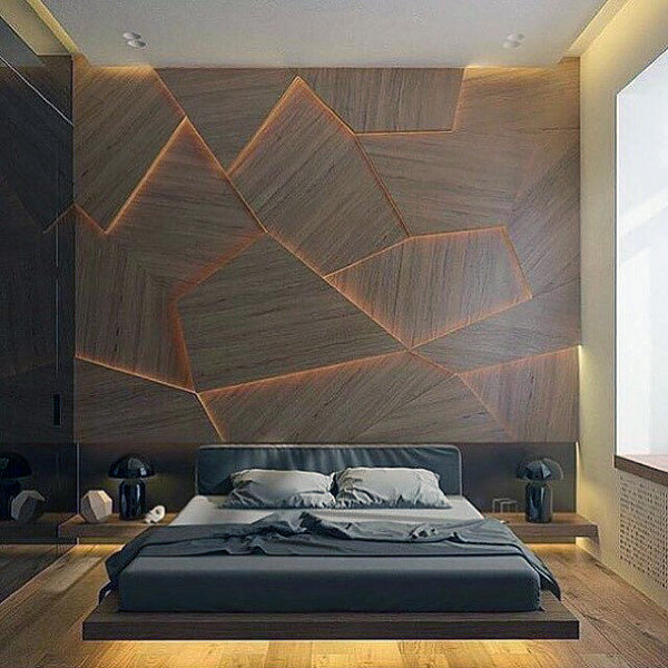 80 Bachelor Pad Men's Bedroom Ideas - Manly Interior Desi