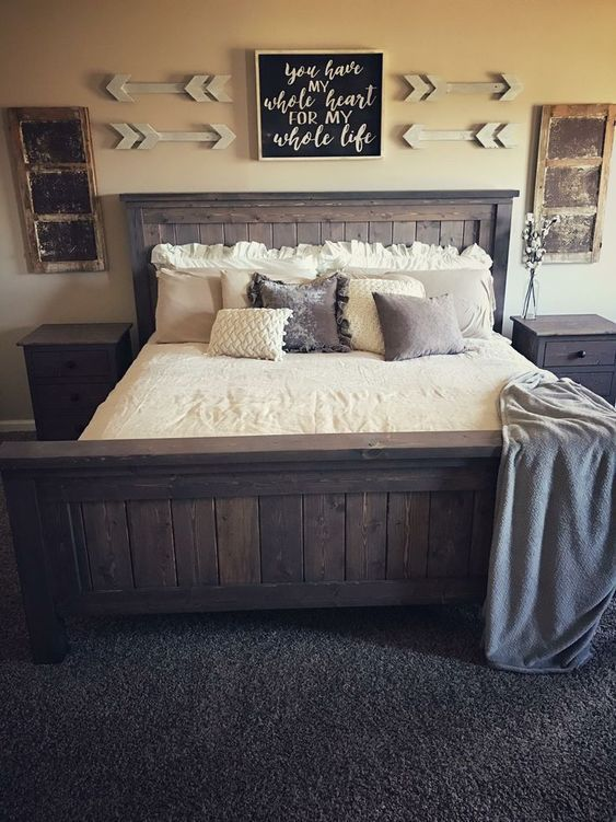 45 Modern Rustic Master Bedroom Decor and Design Idea - | Modern .