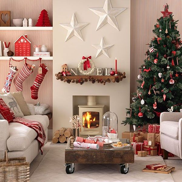 53 Wonderfully modern Christmas decorated living rooms | Christmas .