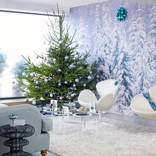 Modern Christmas decorating ideas | Christmas living rooms, Modern .