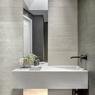 75 Beautiful Modern Powder Room Pictures & Ideas | Hou