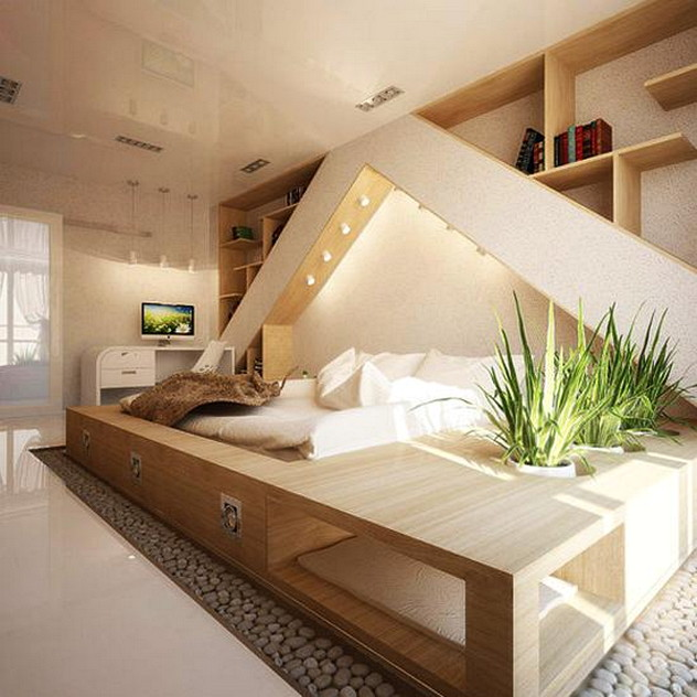 Romantic Modern Bedroom Decoraitng Ideas With Natural Materials .
