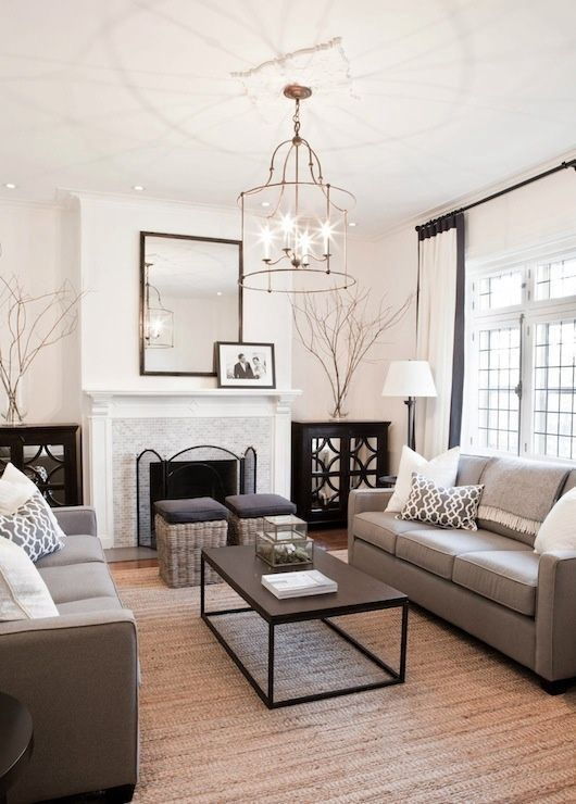 Furniture Layout and Decorating Ideas: Balance and Symmetry .