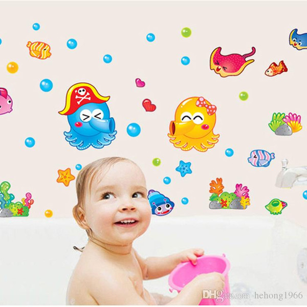 Wall Sticker Octopus Under Water World Decal Kid Room Non Toxic .