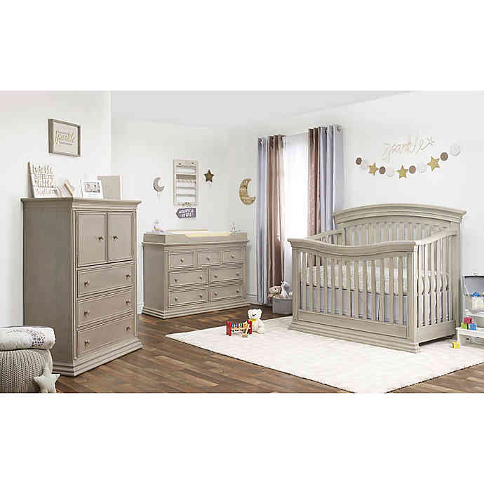 Sorelle Monterey Nursery Furniture Collection in Heritage Fog .