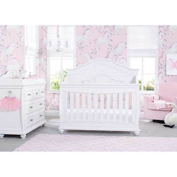 Simmons Kids Ariel 7-piece Nursery Furniture Set with Glider Cha
