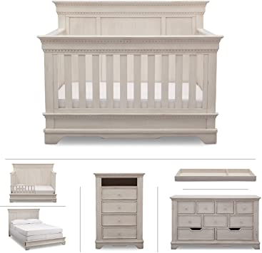 Amazon.com : Delta Children Baby Nursery Furniture Set in White .