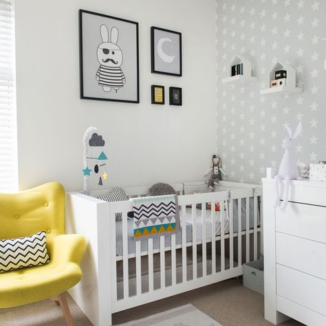 30 Brilliant Photo of Baby Furniture Ideas | Nursery wallpaper .