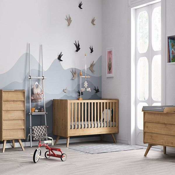 Vox Vintage 3 Piece Cot Bed Nursery Set in a Choice of Oak or 5 .