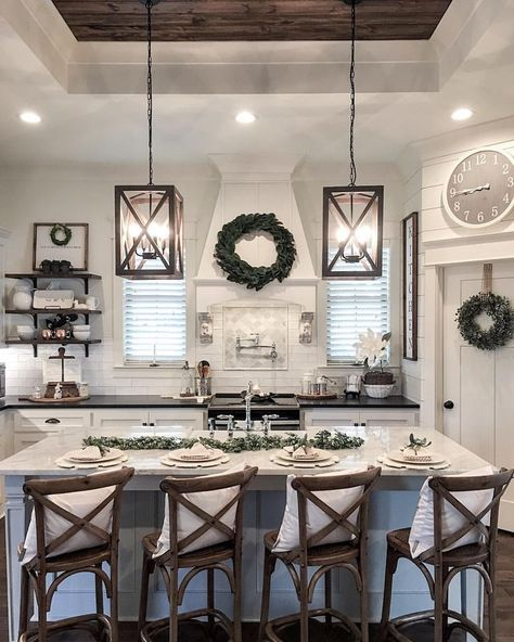 The ❤️ of our home the kitchen. When we were designing our plans .