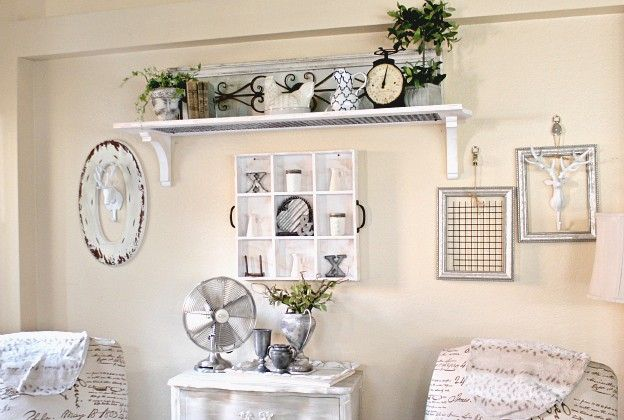 How to decorate a Large Wall Farmhouse Style | Country wall decor .
