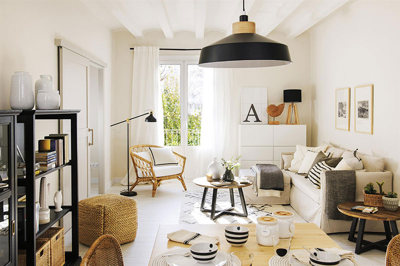 Small but functional Scandinavian-style apartment in Spain (50 sqm .