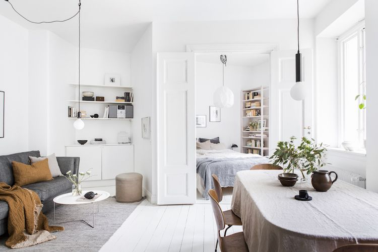 my scandinavian home: Open plan living room, dining room and .