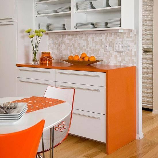 Orange Kitchen Colors, 20 Modern Kitchen Design and Decorating Ide