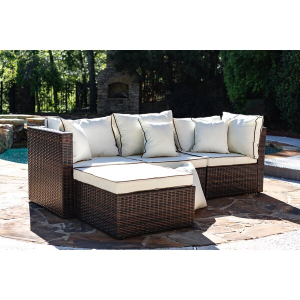 Seadrift Patio Sectional with Cushions & Reviews | Birch La