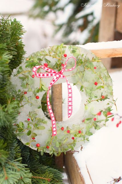 Ice Wreath | Outdoor christmas, Outdoor christmas decorations .