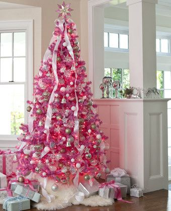 Shabby Chic Pink Christmas Decorating Ideas and Tips | Pink .