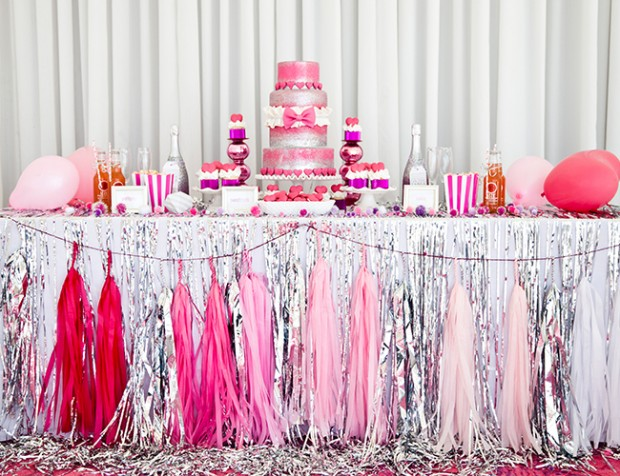 17 Pretty Pink Decoration Ideas for Bridal Show