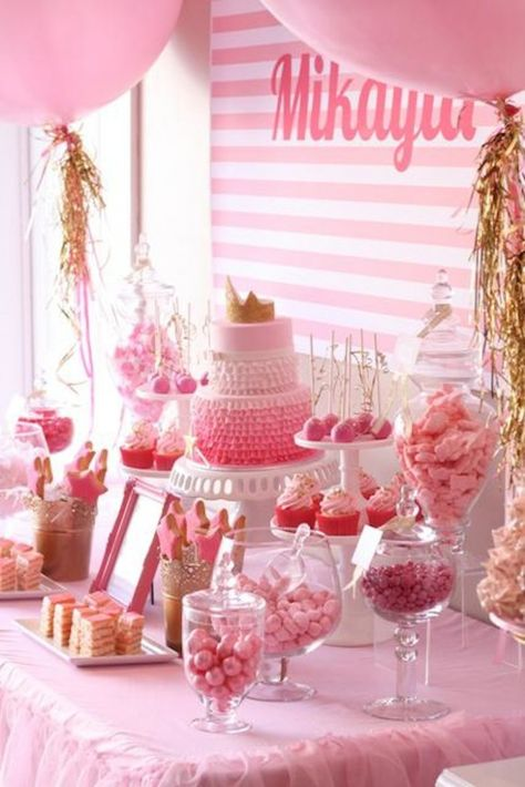 pink and gold party ideas | princess pink and gold birthday party .