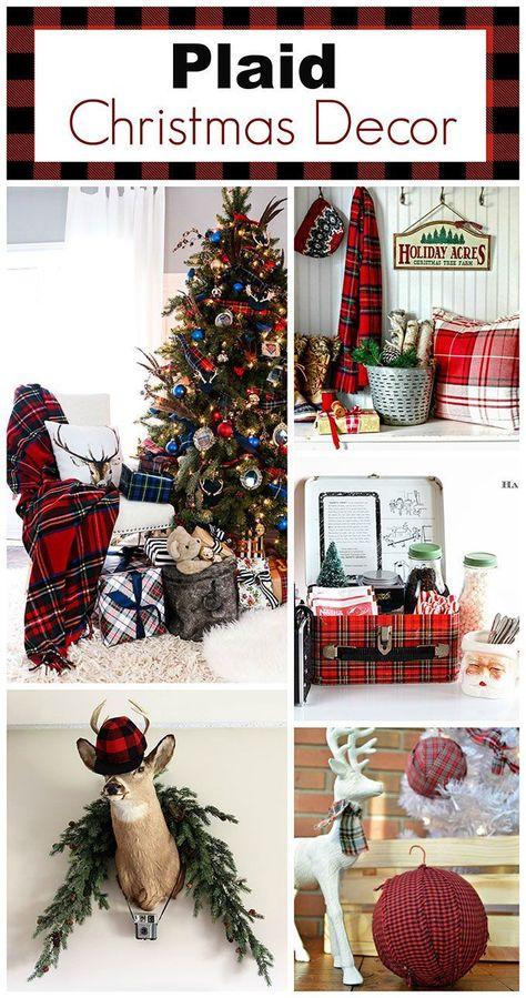 Plaid Christmas Decor Ideas For The Holidays | Christmas .