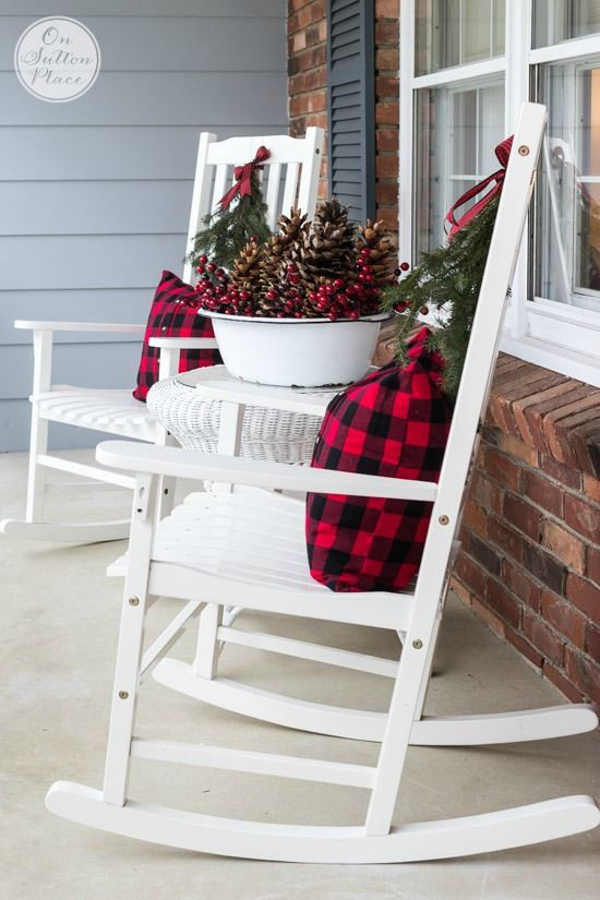Festive & Frugal Christmas Porch Decor | Outdoor christmas .