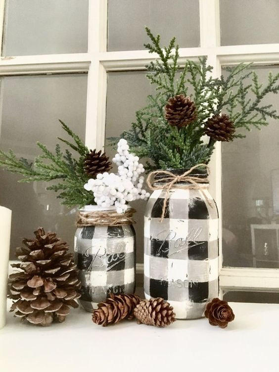 Buffalo Check Decor Ideas for Christmas, fall and year-round .