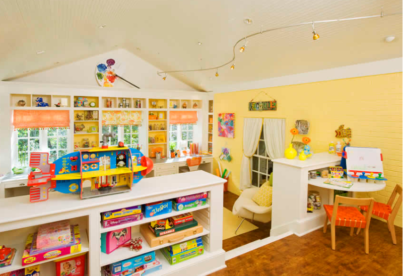 Amazing Kids Craft And Play Room Design In Bright Colors | Kidsoman