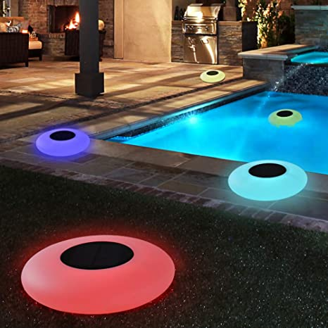 Amazon.com : Blibly Swimming Pool Lights Solar Floating Light with .