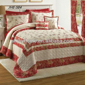 Flowers Cotton Embroidered Quilted Bedspreads | Global Sourc