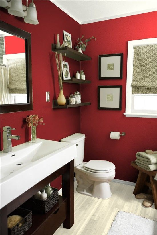 10 Vibrant Red Bathrooms to Make Your Decor Dazzle | Cuartos de .