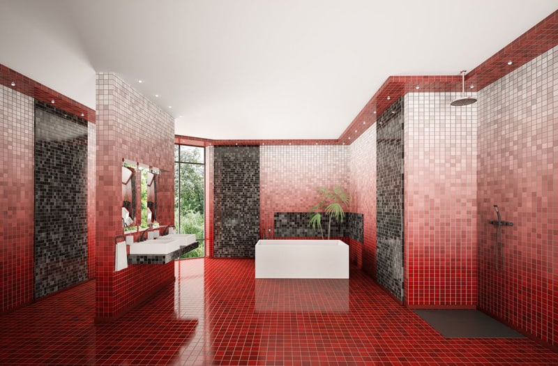 20 Red Bathroom Design Ide
