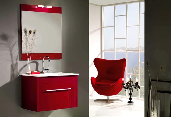 44 Cool And Bold Red Bathroom Design Ideas - DigsDi
