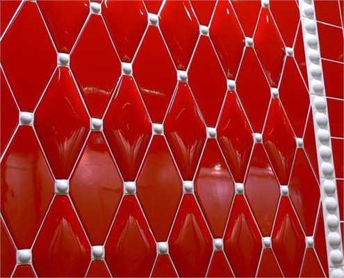 Modern Wall Tiles in Red Colors Creating Stunning Bathroom Desi