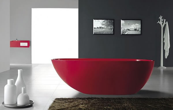 Intensive Red Bathroom Design Ideas [PHOTO