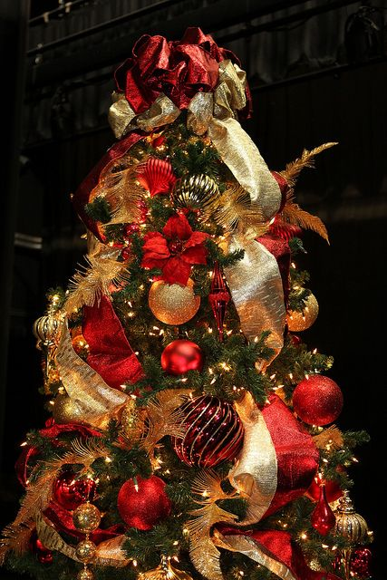 Red and Gold 9ft Christmas Tree | Christmas decorations, 9ft .