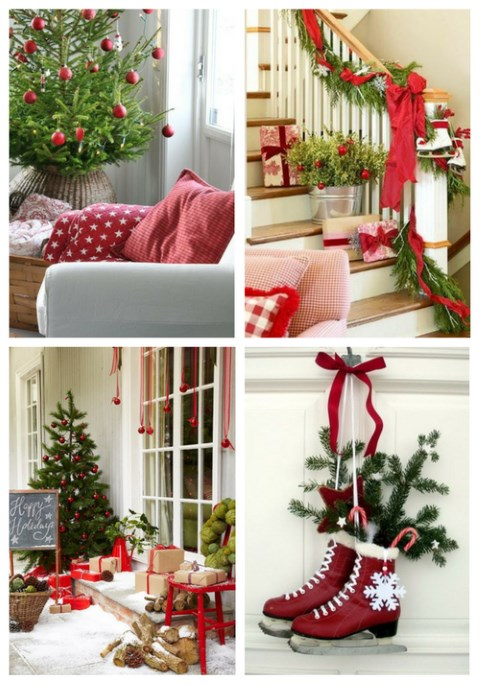 Red And Green Christmas Home Decor Ideas | ComfyDwelling.c