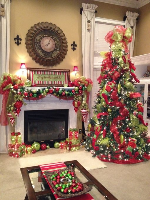 Red Green Christmas Decoration Ideas