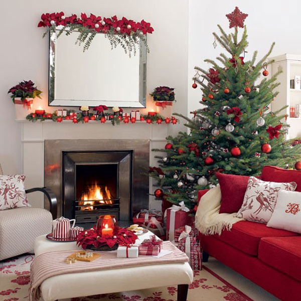Use Traditional Christmas Decor in Red and Green in 2019 .