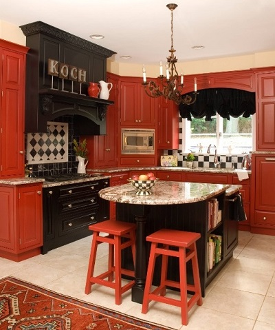How to Design a Red and Black Kitchen | Home Decor Bu
