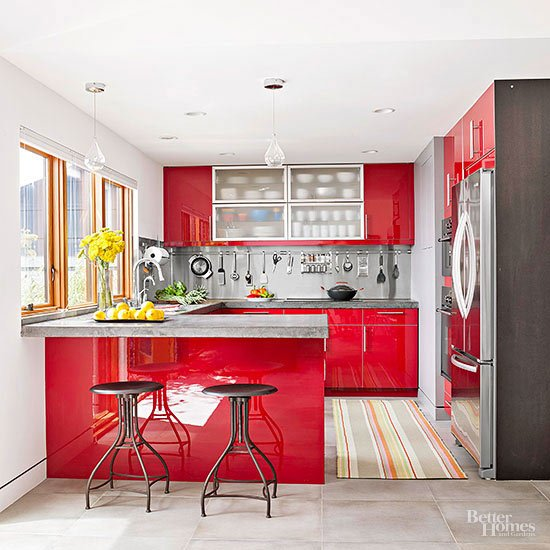 Likeable Red Kitchen Ideas In Design | Kitchen.transgenicnews.com .