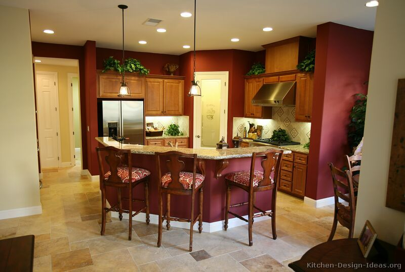 Pictures of Kitchens - Traditional - Medium Wood Cabinets, Golden .