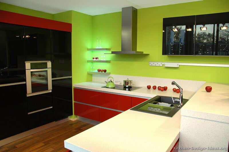 Pictures of Kitchens - Modern - Red Kitchen Cabinets (Page 2 .