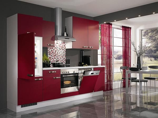 Red Kitchen Design Ideas, Pictures and Inspiration   Red kitchen .
