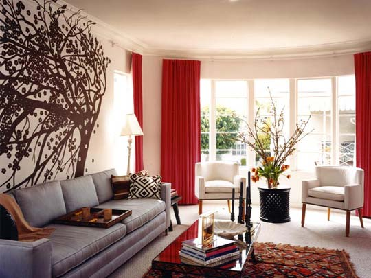 15 Red living room design ide