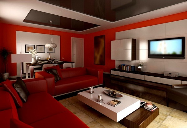 100+ Best Red Living Rooms Interior Design Ide