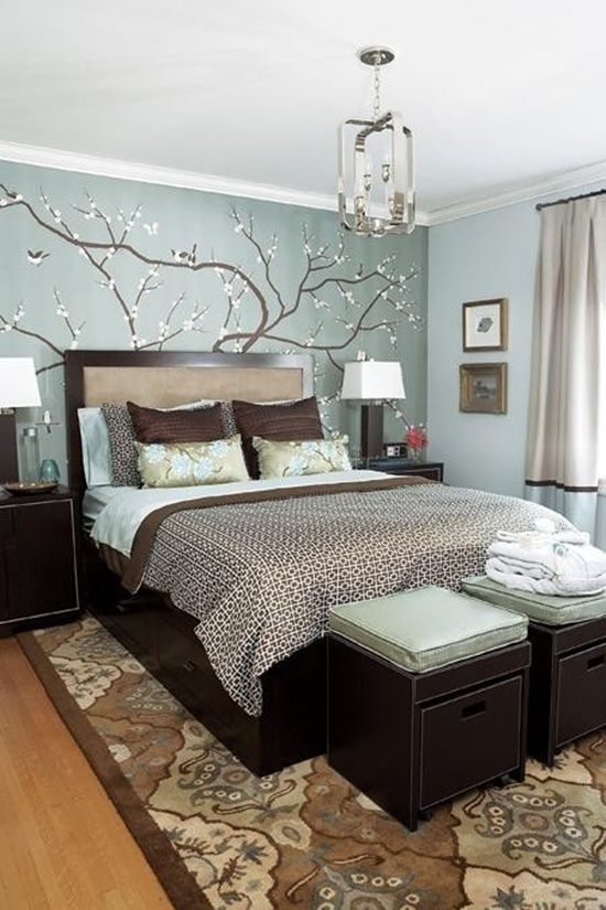 25 Unique Romantic Bedroom Ideas | Home bedroom, Blue brown .