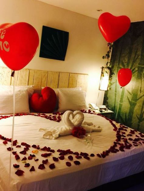 20 Valentine's Day Decoration Ideas You'll Love | Romantic bedroom .