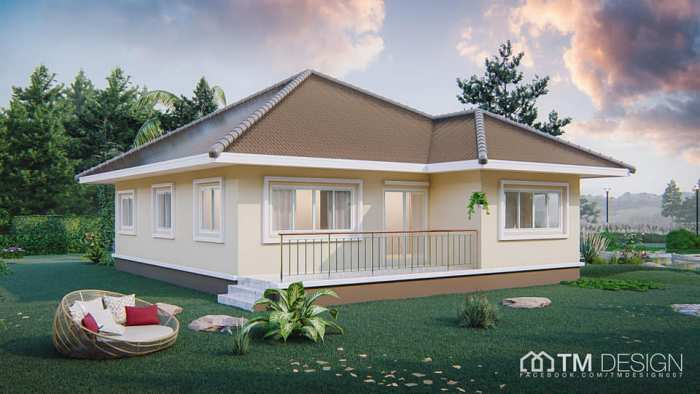Stunning Square Shaped Bungalow with a Pyramid Hip Roof - Pinoy .